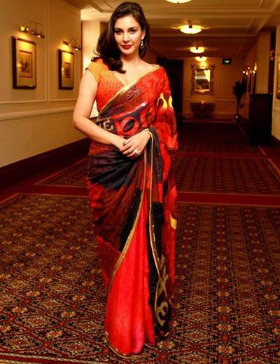 Lisa Ray Launches a line of Saris with Satya Paul Canada