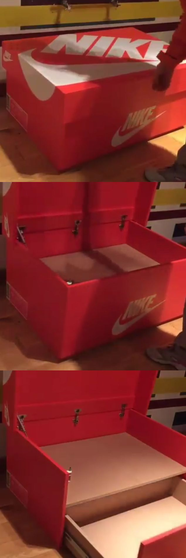 Custom Nike Shoe Box Storage Unit / Foot Locker!