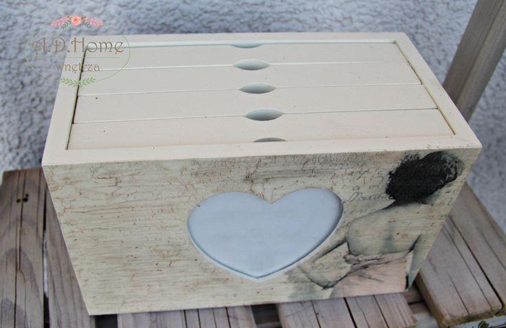 Album drewniany vintage, z kobietą, prezent, wykonany w Pracowni A.D.Home