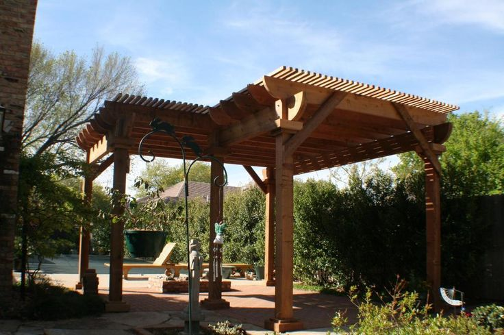 two level l shaped pergola with benches backyard patio. Black Bedroom Furniture Sets. Home Design Ideas