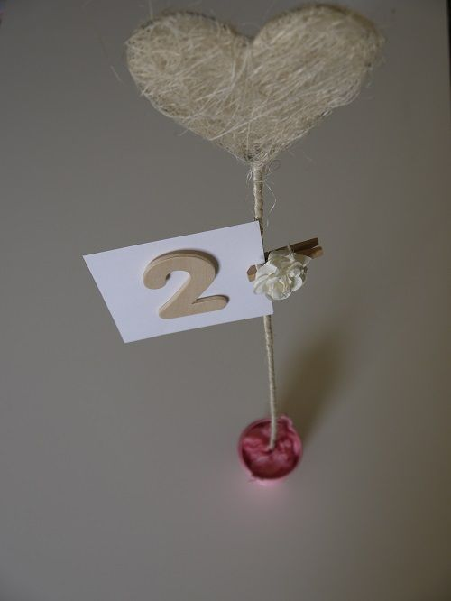 Tall Heart Table Numbers. Wedding tableware and decorations available to hire in Kent, UK. Please seewww.picketfencewe... for further information and prices.