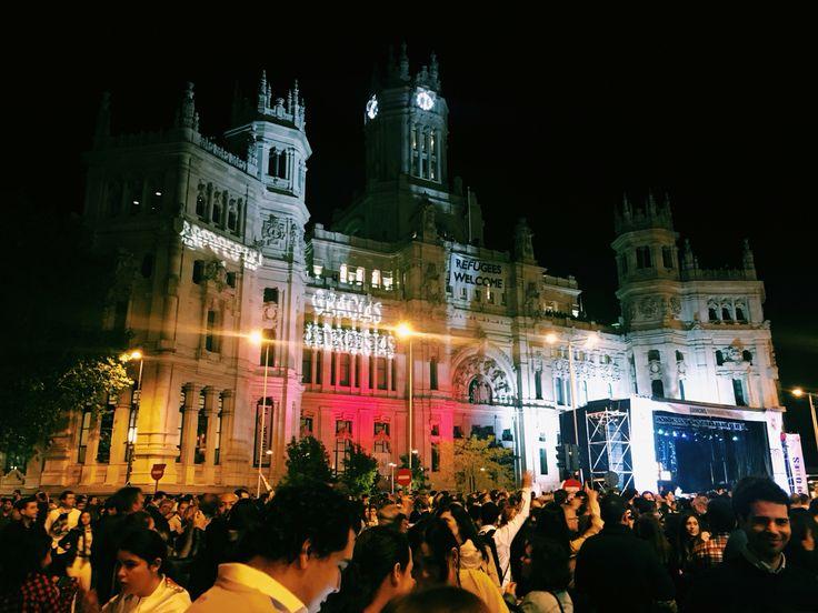 La undécima, celebración en Cibeles. Madrid