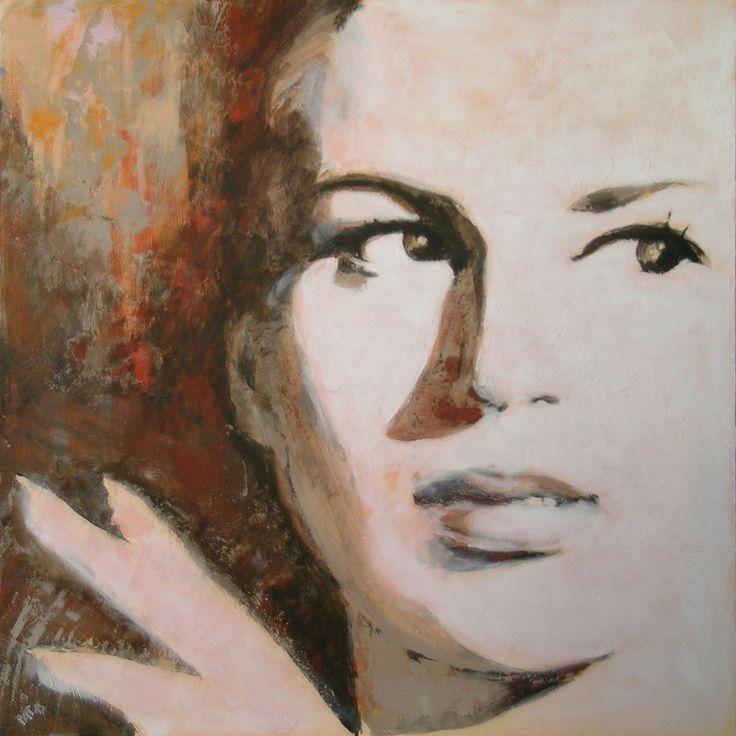 """""""El Negro Zumbon - Silvana Mangano"""", acrilico su tela cm100x100, 2015 Patrizia Marrocco www.pm-design.it"""