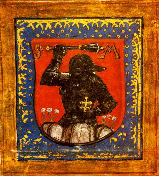 Coat-of-arms of the Máriássi family from Márkusfalva (Markušovce), Slovakia, 1504