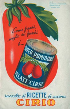Poster vintage pomodoro Cirio 1952