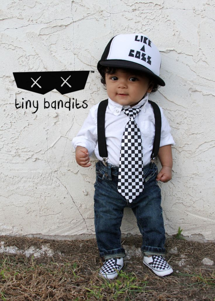 Cap From Like A Boss Likeaboss Checkered Black And White Ties Checkered Tie