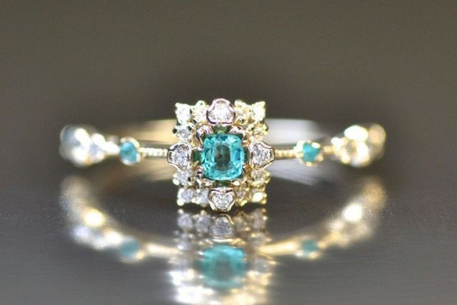 """Say """"Yes"""" To 2017's Top Engagement Ring Trends: Paraiba Proud"""