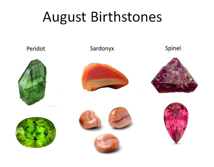 Hello August ! Three birthstones are available for August ...