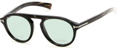 Tom Ford Tom N.9 Private Collection Real Horn Optical Frames, Dark Brown