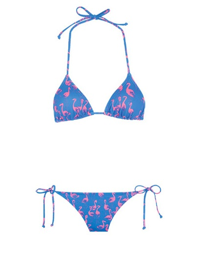 Billabong Flamingo Triangle Flamingo Triangle Bikini: 100 Beach-Ready Swimsuits for Summer: Style: teenvogue.com