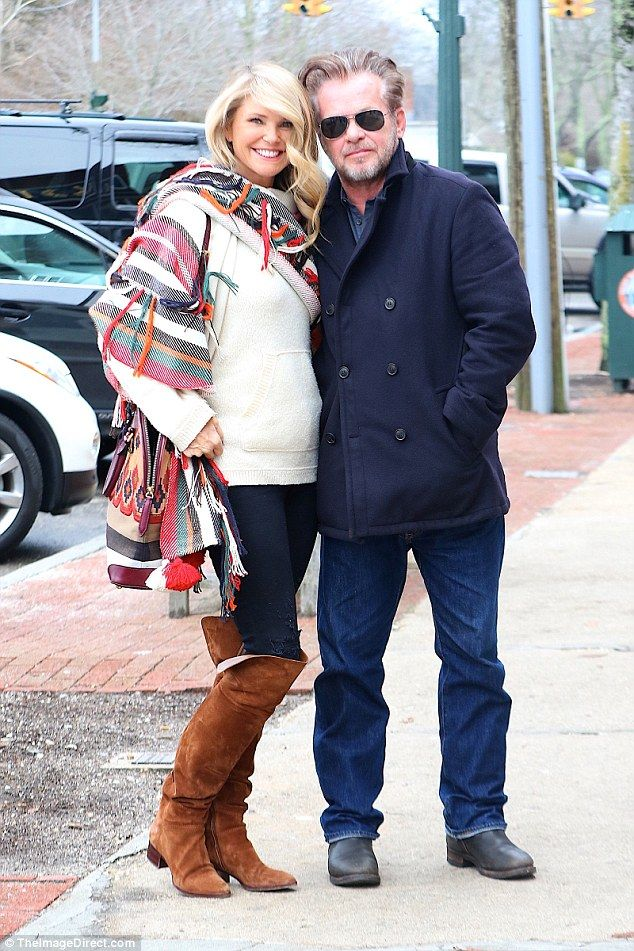 Hamptons getaway: Christie Brinkley, 62, enjoyed lunch-for-two with rocker beau John Mellencamp, 64,at Sip N' Soda in Southampton, NY on Thursday
