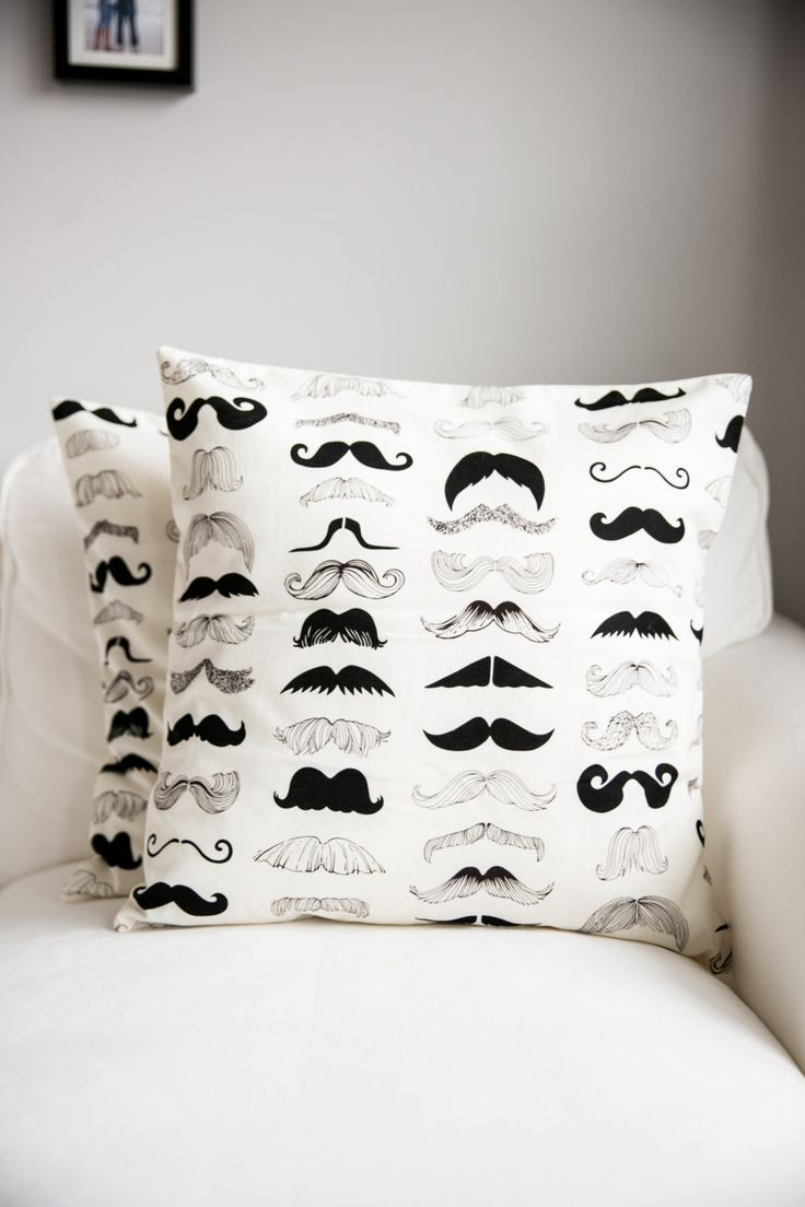 Mustache Pillow cover, Black Mustache Pillows, mustache cushions, where's my stache, man cave decor, guys gift, FREE SHIPPING!! by Lulubeansboutique on Etsy