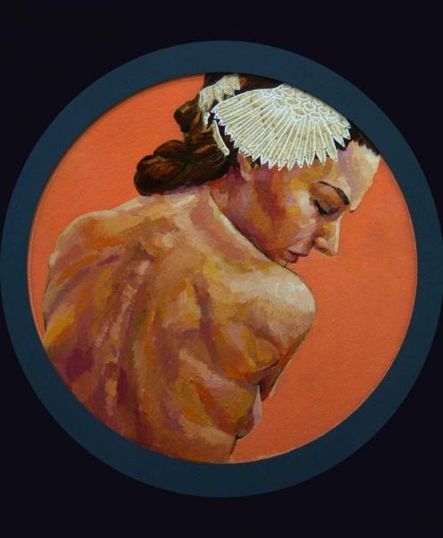 Cottonara: Girl with a gold hairpin