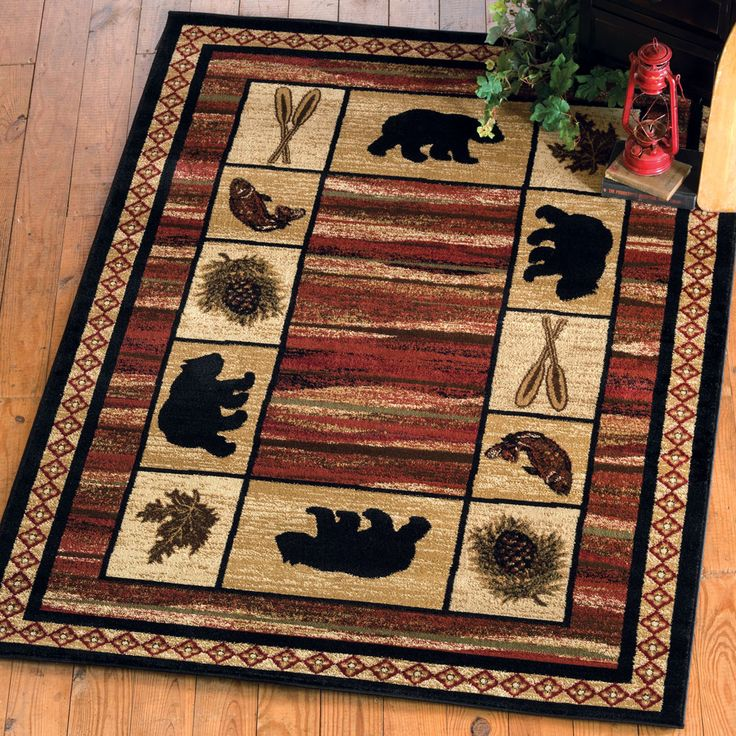 All Your Rustic Area Rugs Cabin Accent And Bear At Black Forest Decor Primary Source For Moose