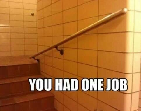 These stairs go down.
