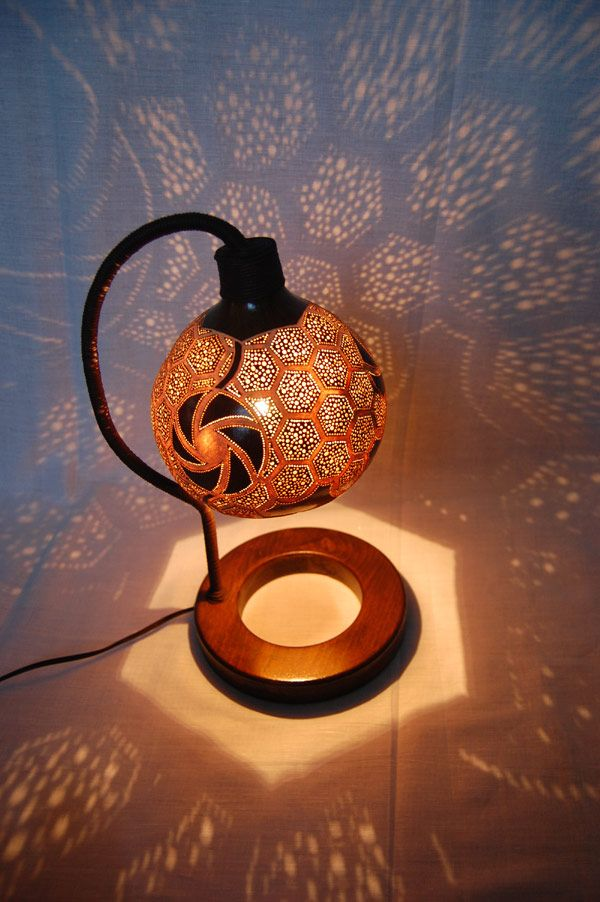 Original Lampshade Design Inspired by Exotic African Fruits: Gourd Lamp