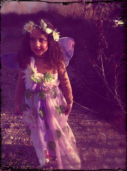 Disfraz casero para niñas de ninfa del bosque