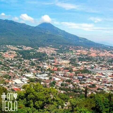 Ciudad de Santa Tecla, vista desde Las Colinas, La Libertad, El Salvador