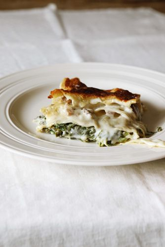 River Cottage's Kale and mushroom lasagne