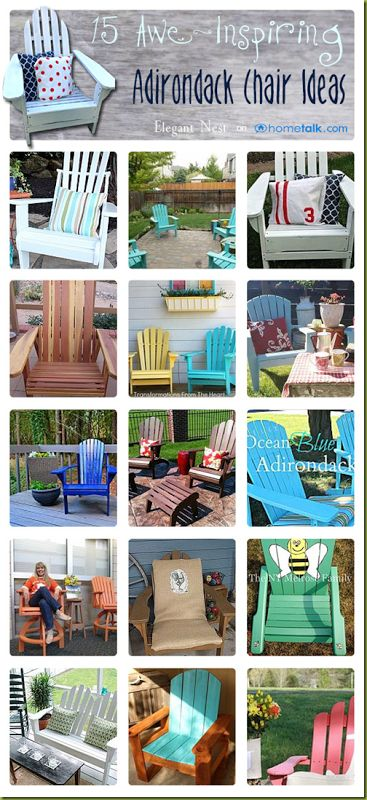 15 Awe-Inspiring Adirondack Chair Ideas | curated by 'Elegant Nest' blog!