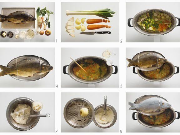 Karpfen blau mit cremigem Meerrettich ist ein Rezept mit frischen Zutaten aus der Kategorie Fisch. Probieren Sie dieses und weitere Rezepte von EAT SMARTER!