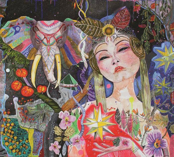 Finding Glory  • 160x180cm  • acrylic on canvas  • 2016
