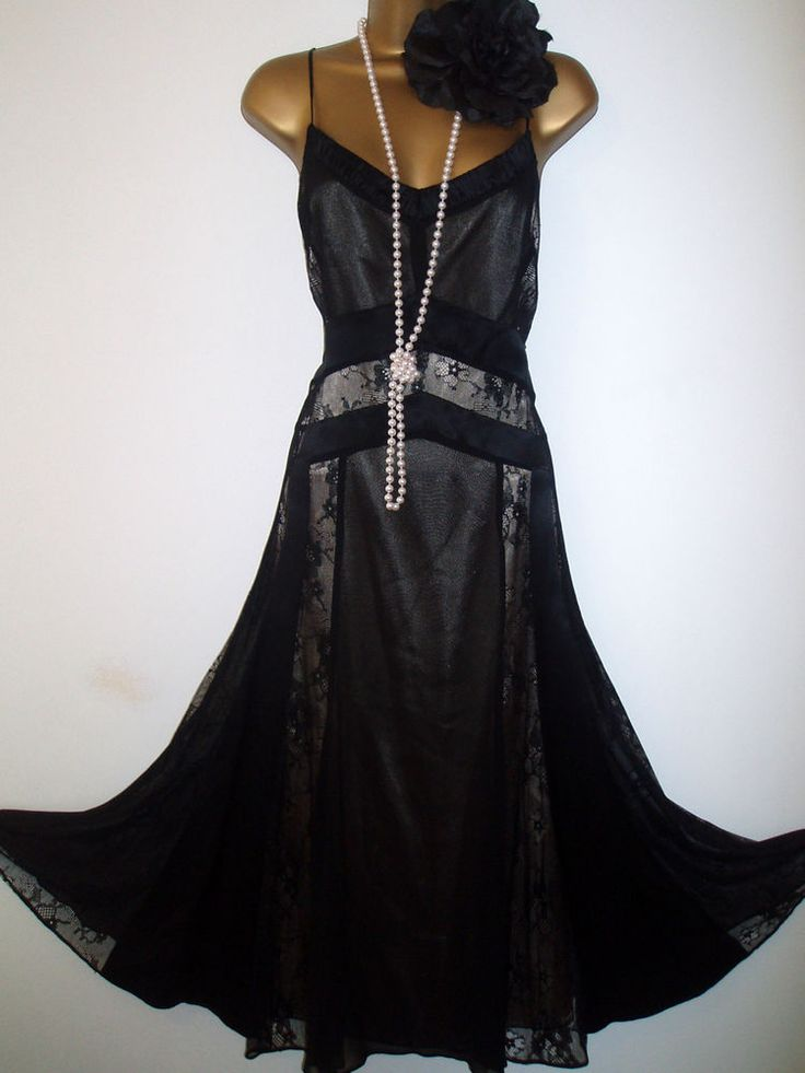 1920's Vintage/Charleston/Gatsby Inspired COAST Silk Dress UK 14 ( US 10) #Coast #20s #Party