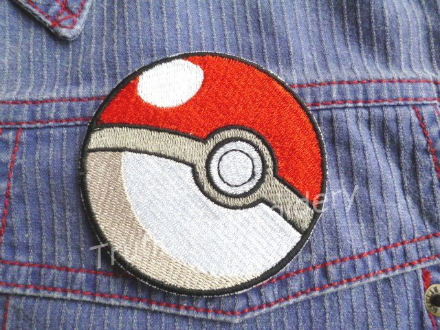 Pokeball iron-on badge/patch by Trufio on Etsy
