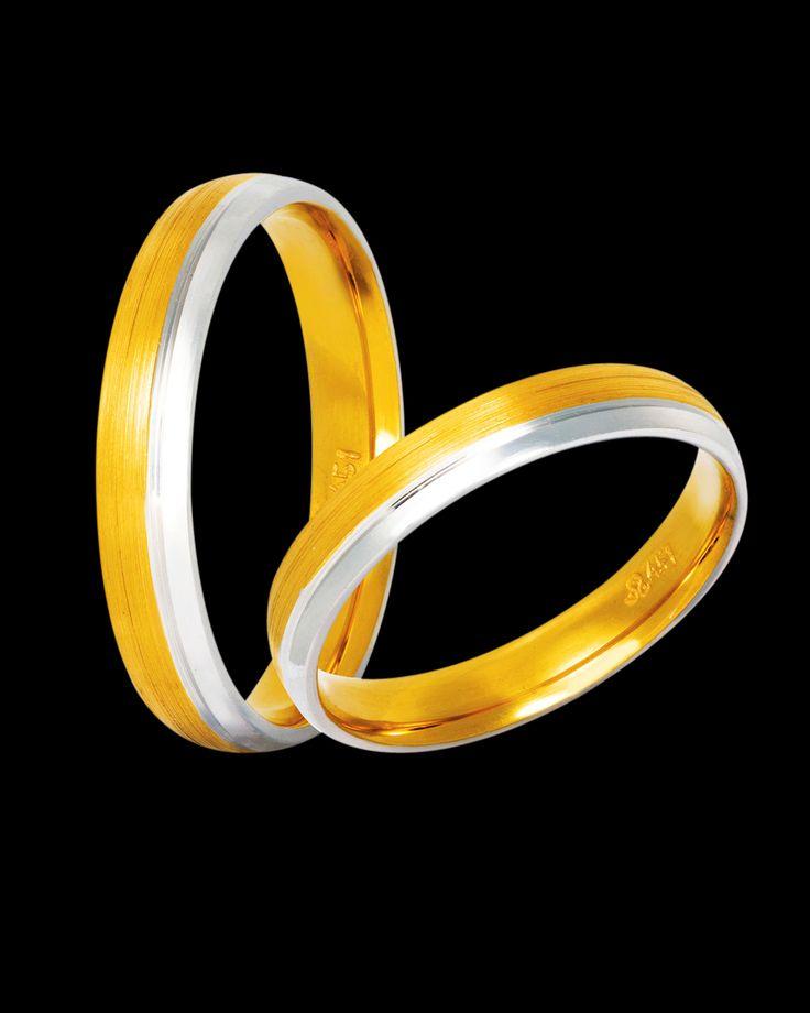 Βέρες γάμου δίχρωμες ροζ χρυσός & λευκόχρυσος 9Κ-14Κ-18Κ