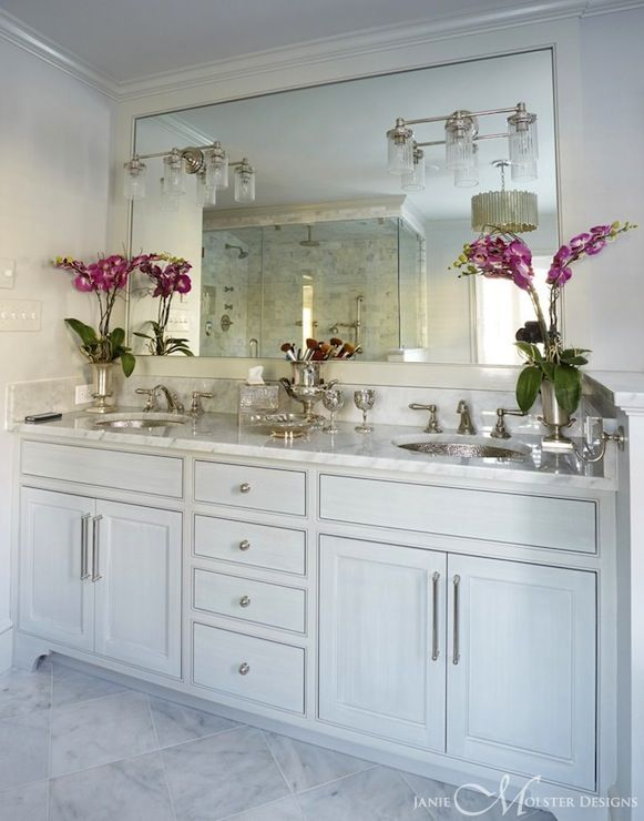 Janie Molster Design Bathrooms White Double Vanity Double Vanity Built In Vanity His And