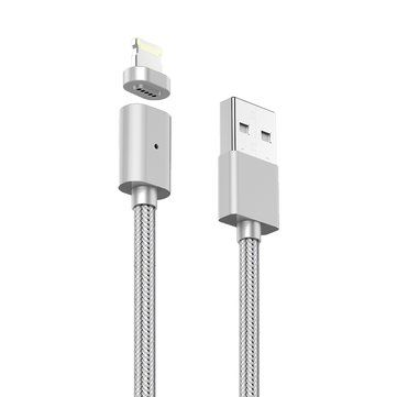 Magnetic Adsorption 3rd Gen High Speed 2.4A 8 Pin USB Charging Data Transmission Cable Sale - Banggood.com