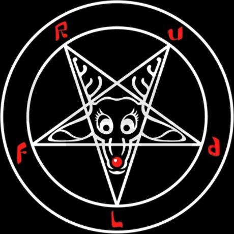 Satanic Rudolph T-shirt Detail