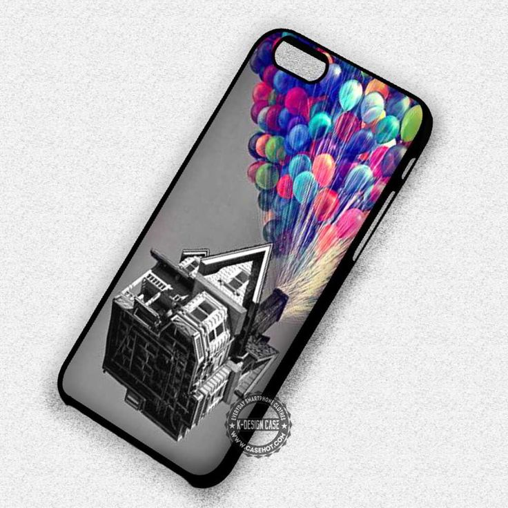 Black and White House Colorfull Balloons Up - iPhone 7 6 Plus 5c 5s SE Cases & Covers