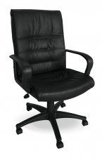 Mustang Black Leather Chair