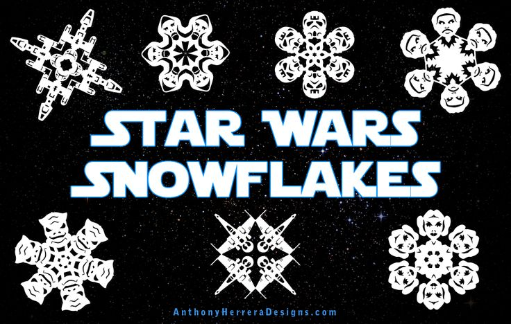 Free PDFs to make your own Star Wars snowflakes