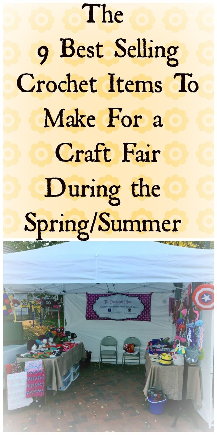 The best crochet items to sell at a Spring or Summer craft fair!