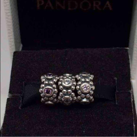 Pandora charm Price is for ONE authentic Pandora charm. Color: pink. New Pandora Jewelry