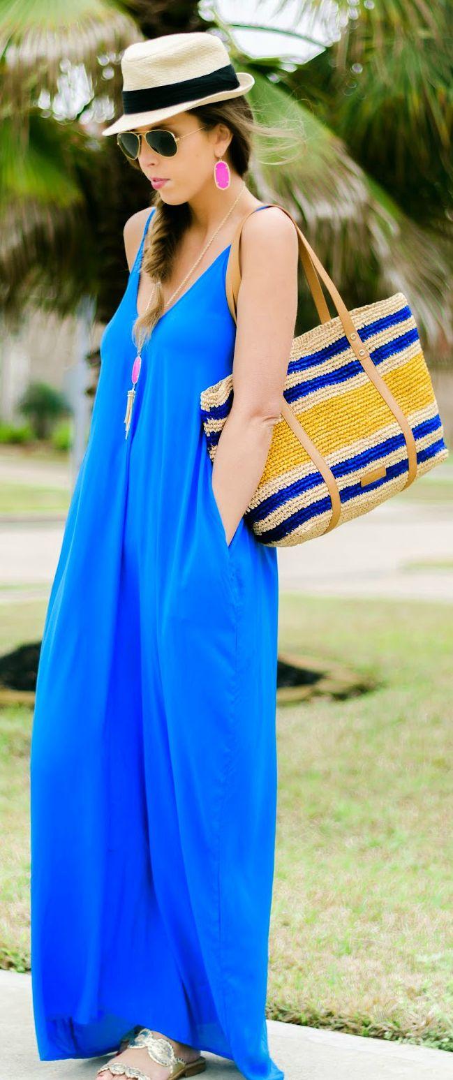 Indigo Cami Maxi Inspiration Dress