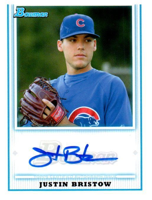 2010 Bowman Prospects Justin Bristow Autograph Card Chicago Cubs #ChicagoCubs