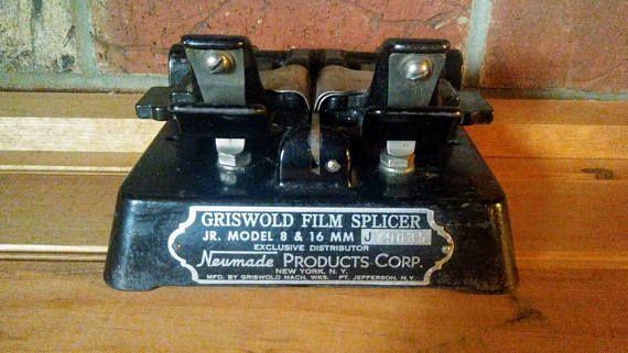 Griswold Film Splicer Jr. Model 8 & 16mm Vintage