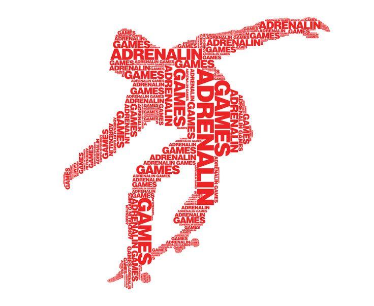 Adrenalin games typography #adrenalingames #extreme #sport #typography #brandwaystudio