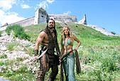VICTOR WEBSTER & ELLEN HOLLMAN THE SCORPION KING: THE LOST THRONE; THE SCORPION KING 4: QUEST FOR POWER (2015) - Stock Photo