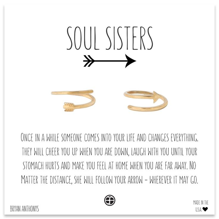 Soul Sisters Arrow Rings