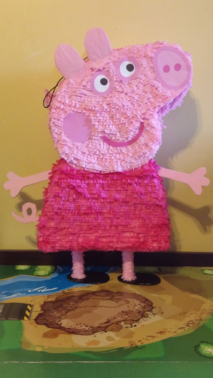 Peppa Pig Pinata for $30 Etsy.com very cute pinata