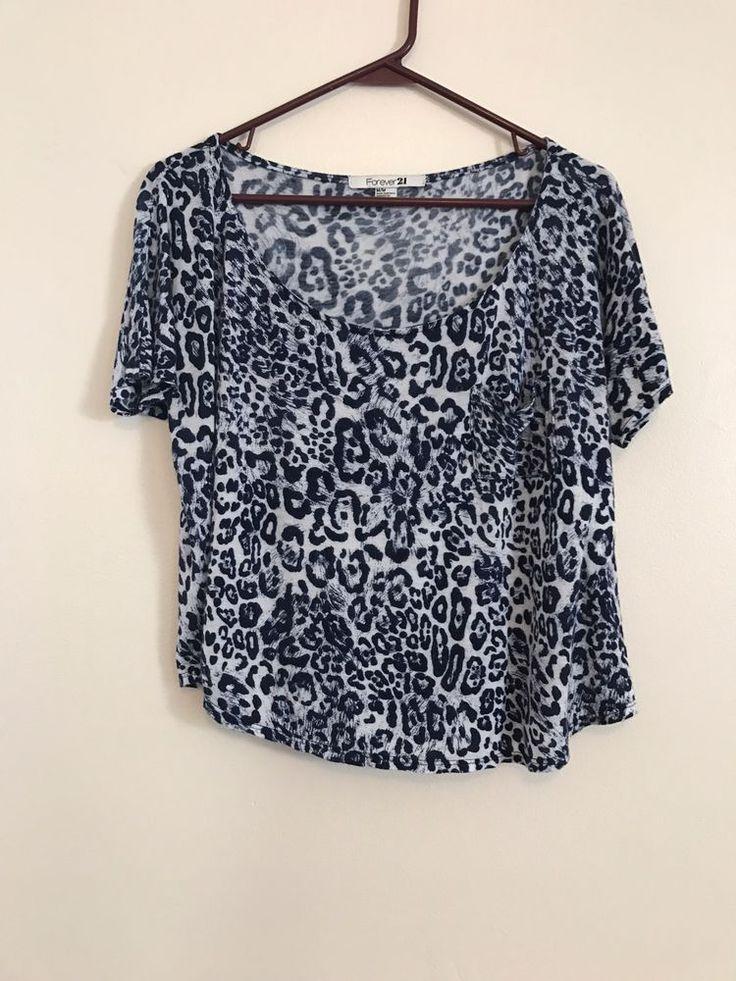 Ladies Forever 21 Black and White Pull Over Shirt Size Medium  | eBay