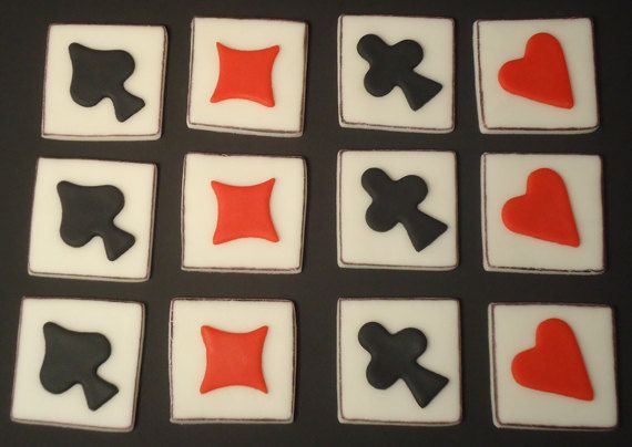 how to make poker chips out of fondant