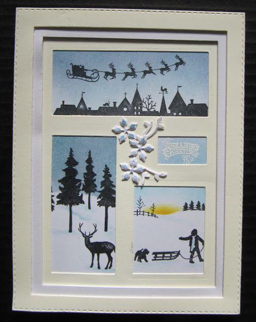 Shadow Box Christmas card DIY inspired by Sue Wilson. My blog 21 Oct 16