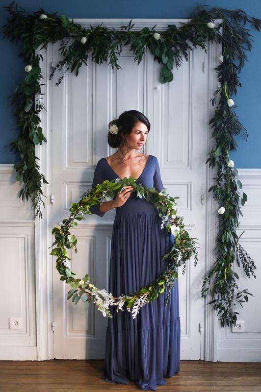 Amandine Ropars photographe - Shooting inspiration mariage en bleu - #wedding #blue  #inspiration #editorial #mariage #bleu #flowers #fleurs #cercle #crown