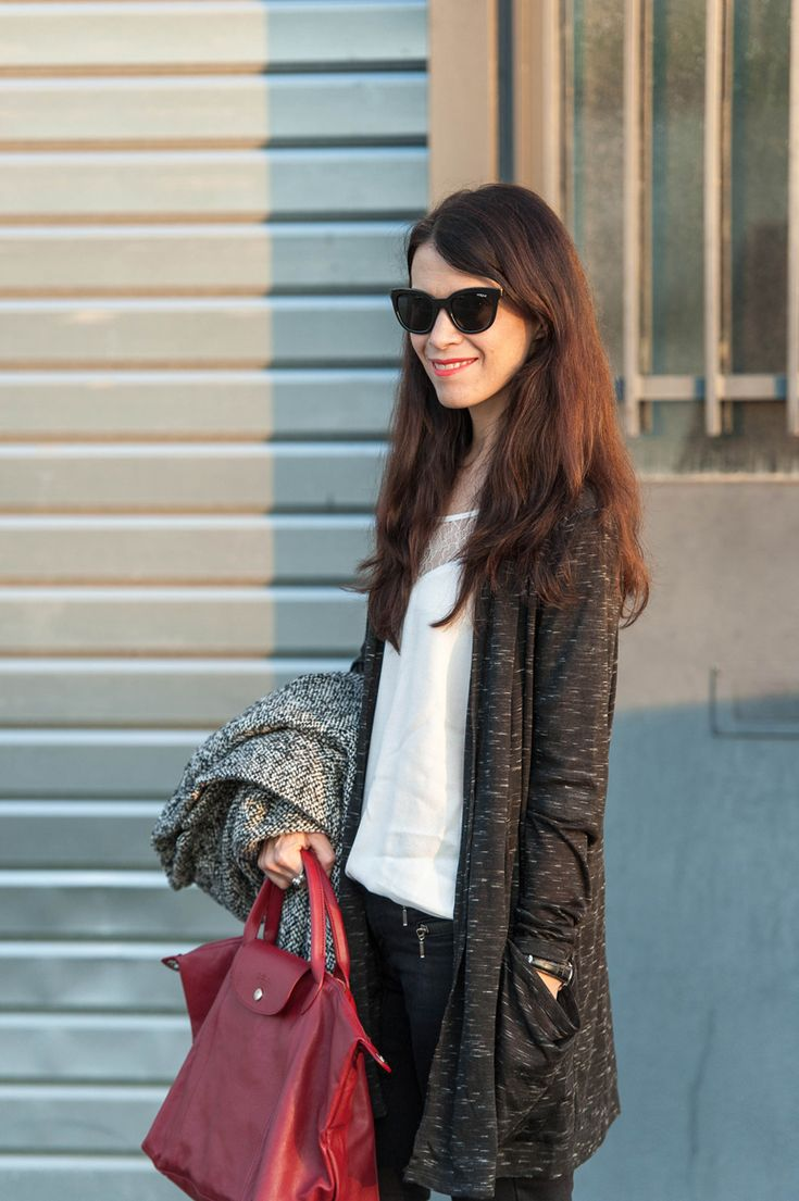 French blogger Punky B / Géraldine has created a look on her blog, starring Le Pliage Cuir #LePliageGallery