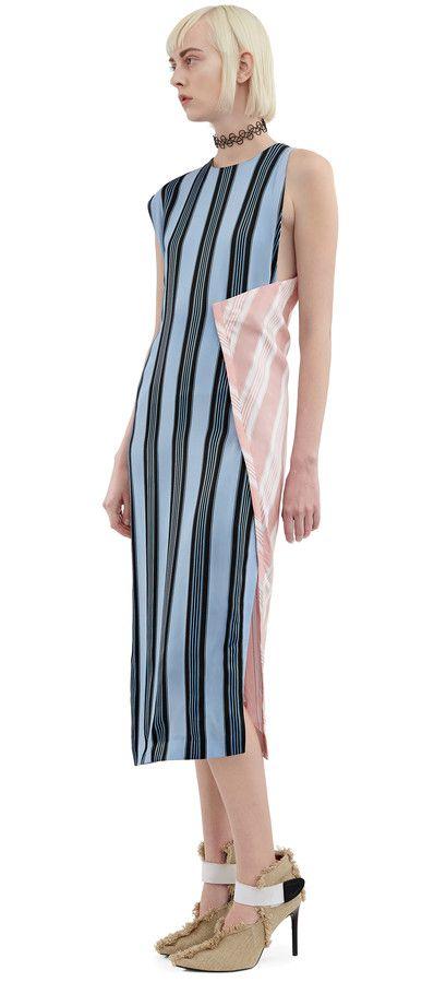 Catlin rotating panel dress in heavy but fluid viscose #AcneStudios #Resort2016